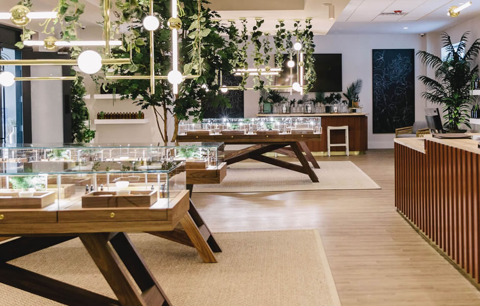 cannabis interior design image with lightening to work as one of our past projects