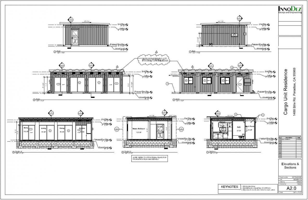 Elevations - Sections