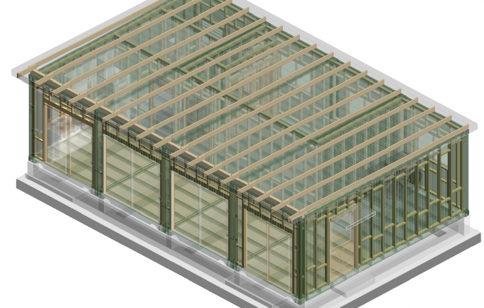 Modular Container Layout-3D View Framing