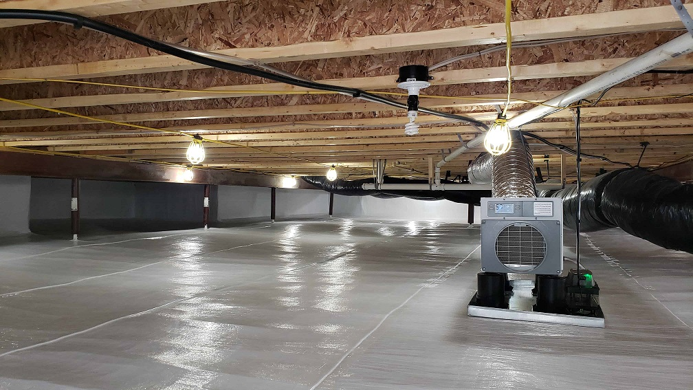 Crawl Space for HVAC